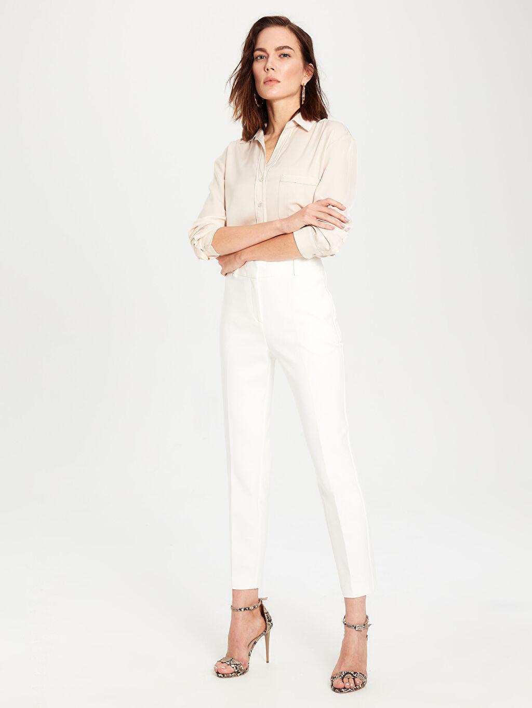Kadın Cigarette Kumaş Pantolon