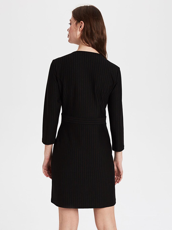 Kadın Kruvaze Yaka Ceket Elbise