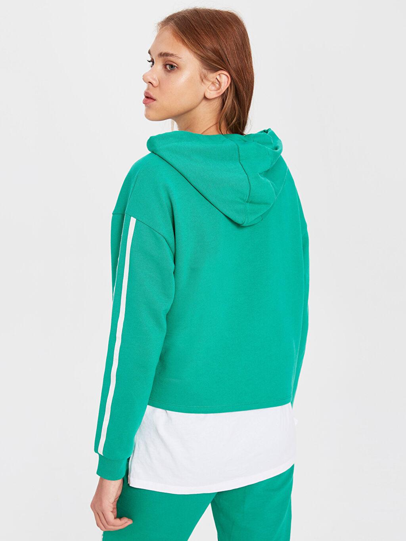 Kadın Şerit Detaylı Sweatshirt