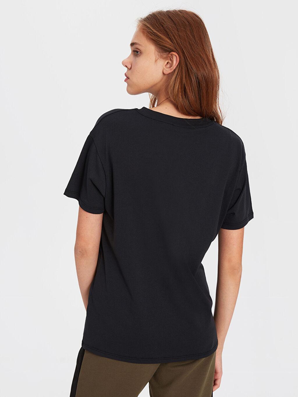 Kadın Baskılı Salaş Tişört