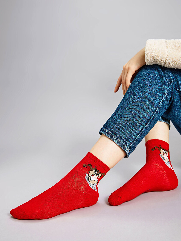 Kırmızı Soket Çorap 9WU931Z8 LC Waikiki