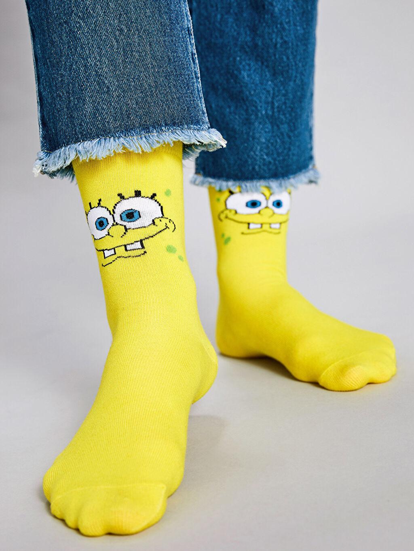 Sarı Çorap 9WU988Z8 LC Waikiki