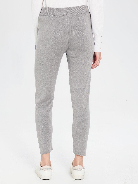 Kadın Bağlama Detaylı Triko Pantolon