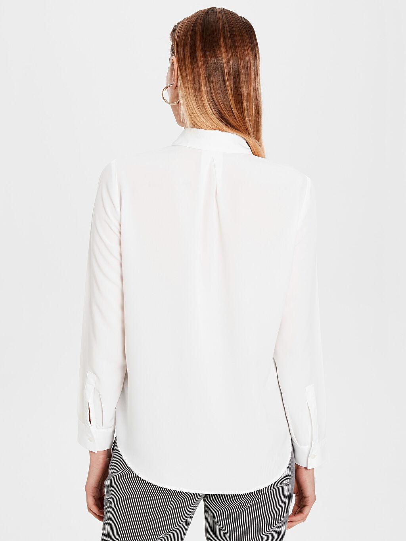 Kadın Düz Vual Gömlek