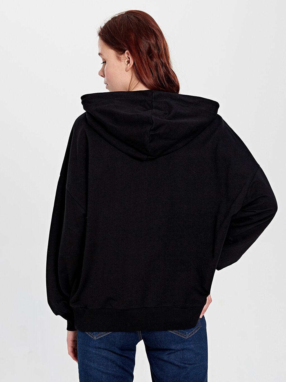 Kadın Star Wars Baskılı Kapüşonlu Sweatshirt