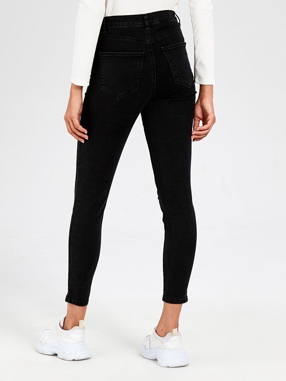 Kadın Yüksek Bel Süper Skinny Jean Pantolon