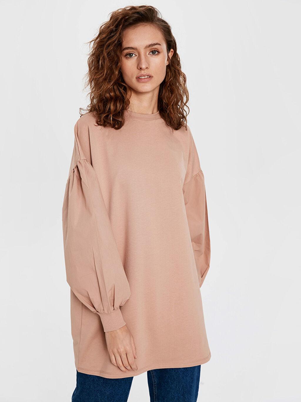 %100 Pamuk  Balon Kol Oversize Sweatshirt