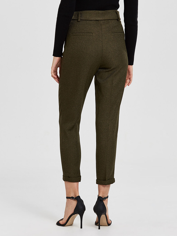 Kadın Sateen Kuşaklı Pantolon