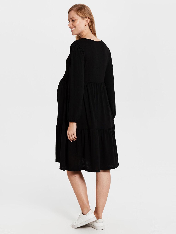 Kadın Hamile Beli Lastikli Elbise