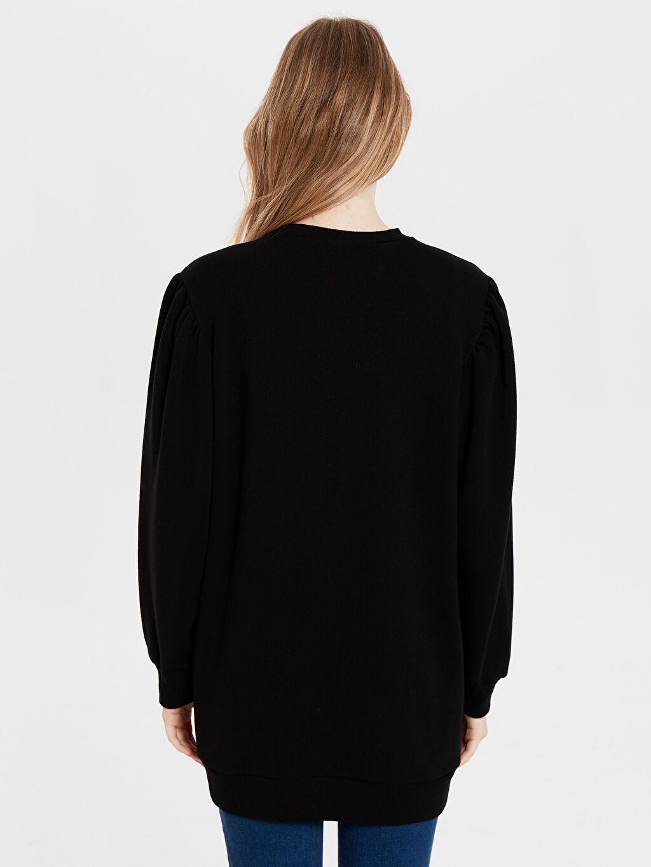 %67 Pamuk %33 Polyester Düz Basic Oversize Sweatshirt
