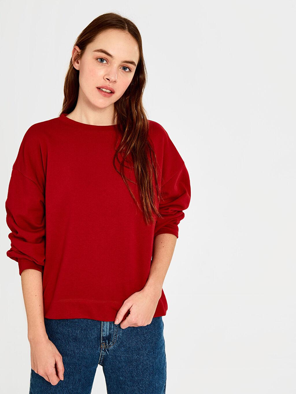 %69 Pamuk %31 Polyester  Düz Salaş Sweatshirt