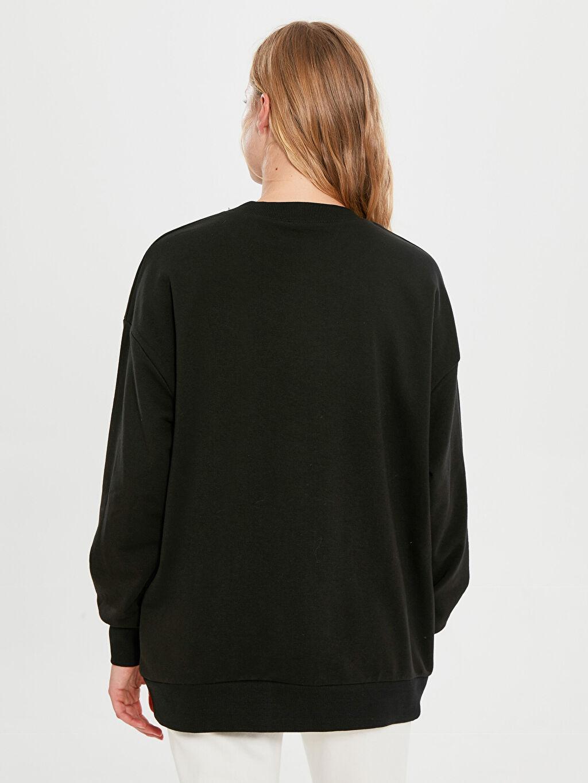 Kadın Kaplan İşlemeli Sweatshirt