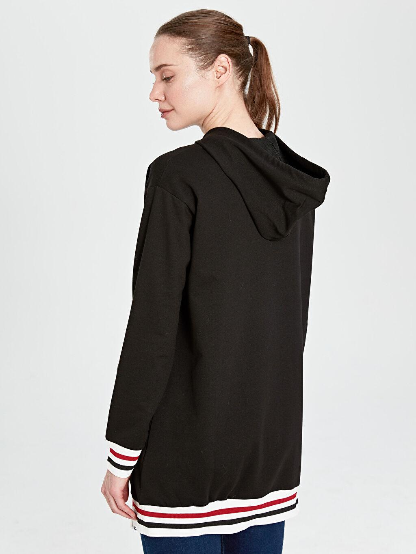 Kadın Kaktüs Fermuar Detaylı Kapüşonlu Sweatshirt