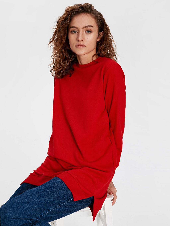 Kırmızı Düz Basic Sweatshirt 9WA310Z8 LC Waikiki