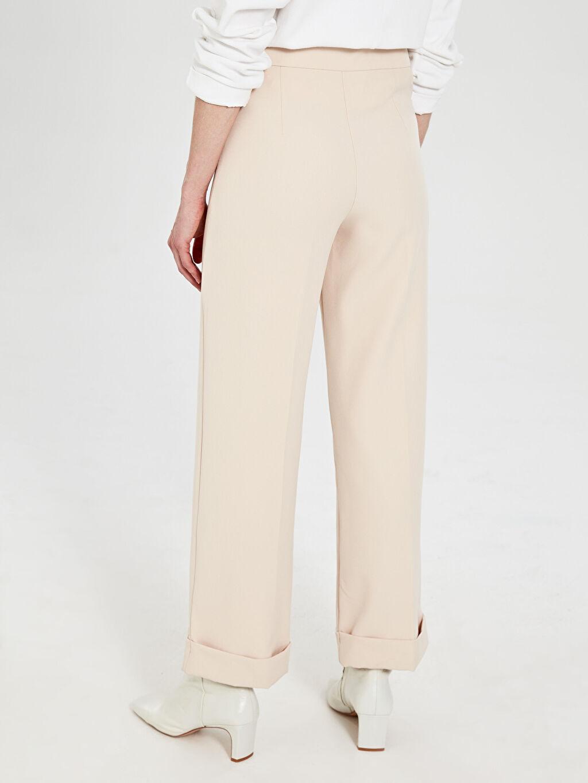 Allday Paça Detaylı Yüksek Bel Pantolon