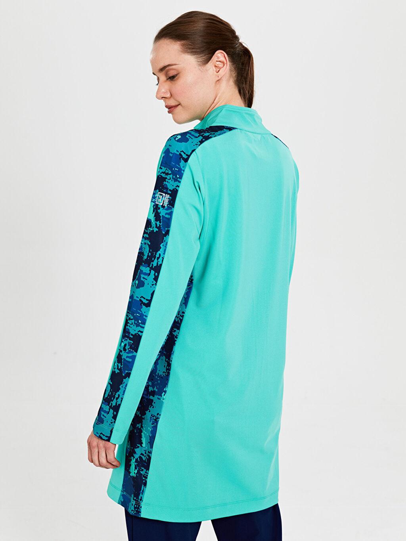 FD Sports Dik Yaka Şerit Detaylı Sweatshirt