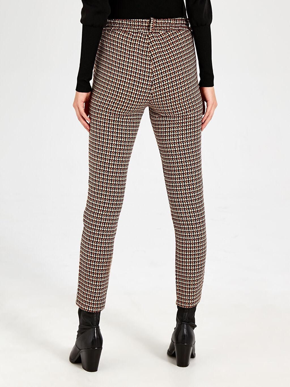 Kumaş Pantolon Normal Bel Standart Nisan Triko Desenli Kumaş Pantolon