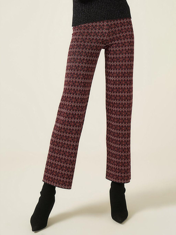 Kadın Join Us Desenli Triko Pantolon