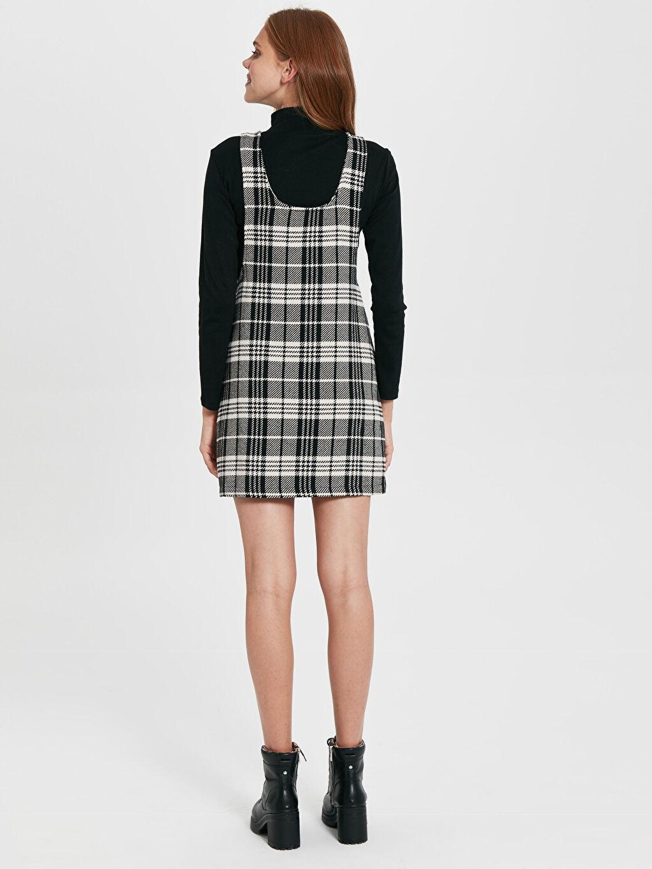 Kadın Quzu Ekose Salopet Elbise