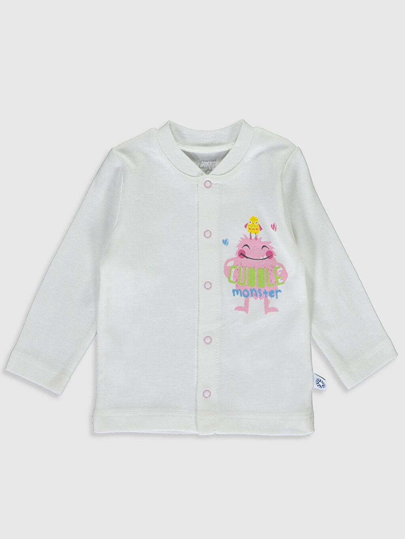 Kız Bebek Luggi Baby Yenidoğan Desenli Pijama Takımı