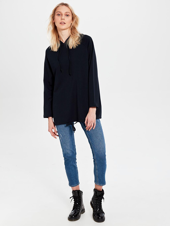 Kadın Allday Kapüşonlu Salaş Sweatshirt