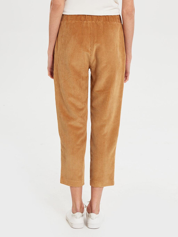 Kadın İkol Bilek Boy Kadife Pantolon