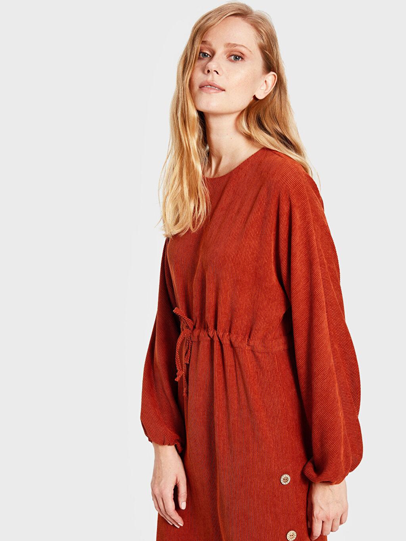 Soul By Loreen Düğme Detaylı Kuşaklı Elbise