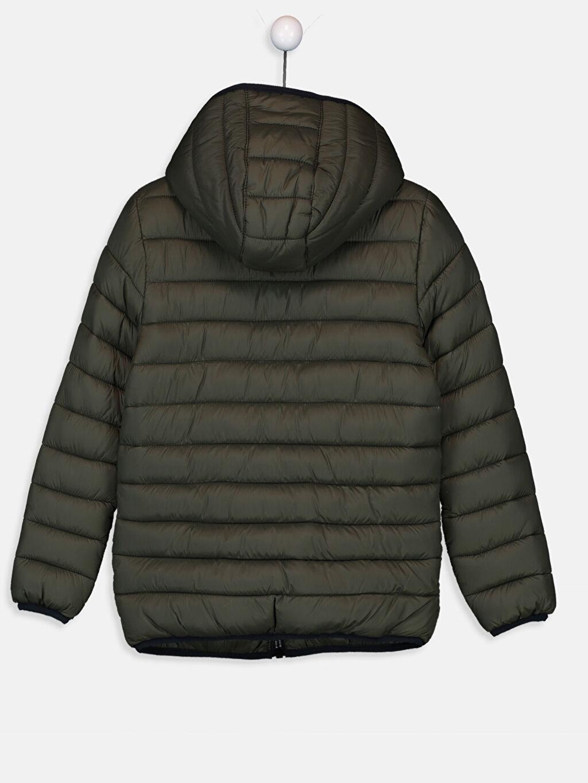 %100 Poliamid %100 Polyester Orta Mont Erkek Çocuk Kapüşonlu Şişme Mont