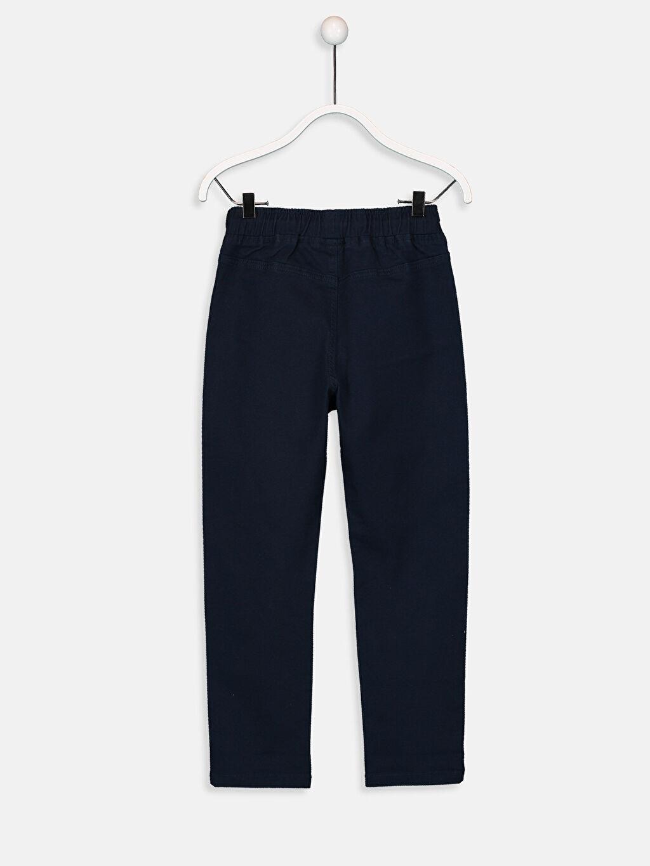 %97 Pamuk %3 Elastan Normal Bel Dar Erkek Çocuk Slim Gabardin Pantolon