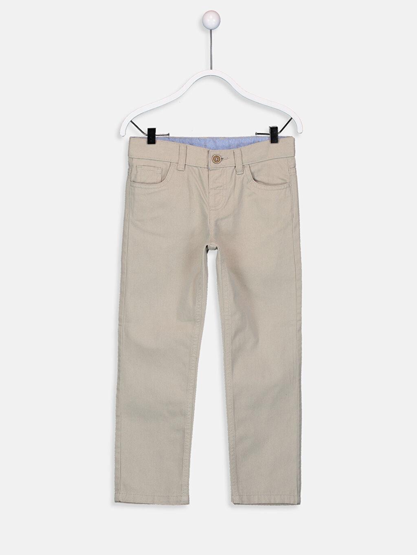 Bej Erkek Çocuk Gabardin Pantolon 9W0866Z4 LC Waikiki