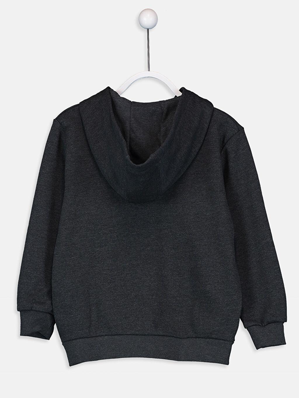 %60 Pamuk %40 Polyester  Erkek Çocuk Fermuarlı Kapüşonlu Sweatshirt