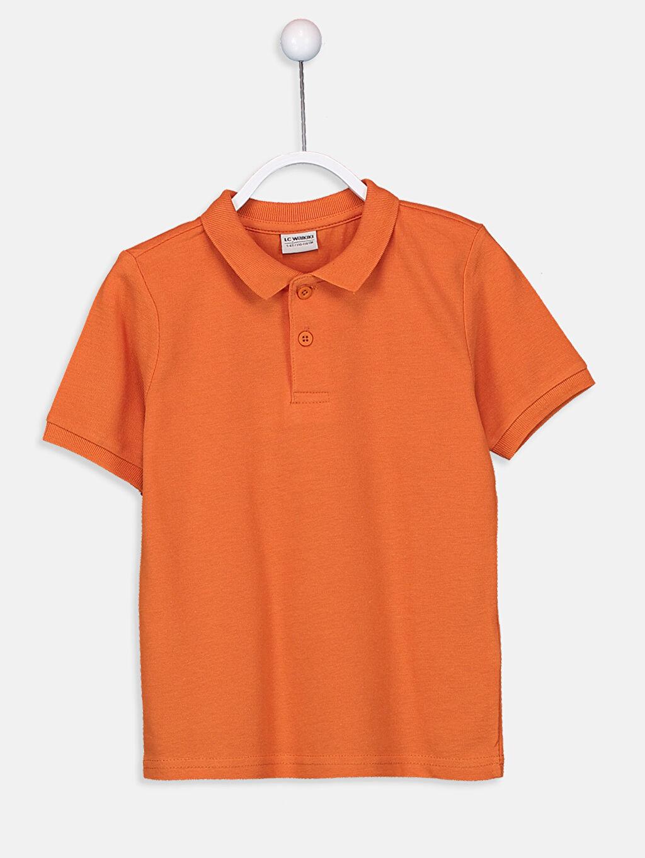 Turuncu Erkek Çocuk Pamuklu Basic Tişört 9W0930Z4 LC Waikiki
