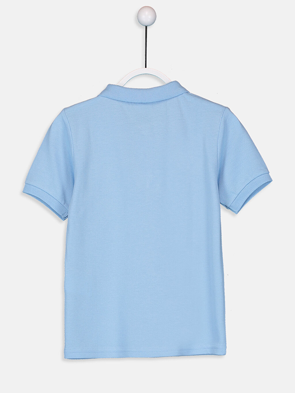 %100 Pamuk Düz Normal Tişört Polo Erkek Çocuk Pamuklu Basic Tişört