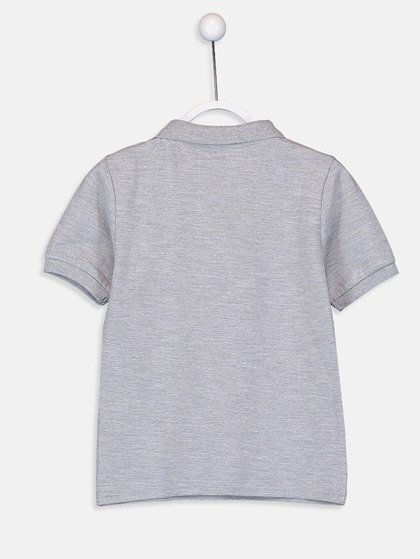 %63 Pamuk %37 Polyester Düz Normal Tişört Polo Erkek Çocuk Pamuklu Basic Tişört