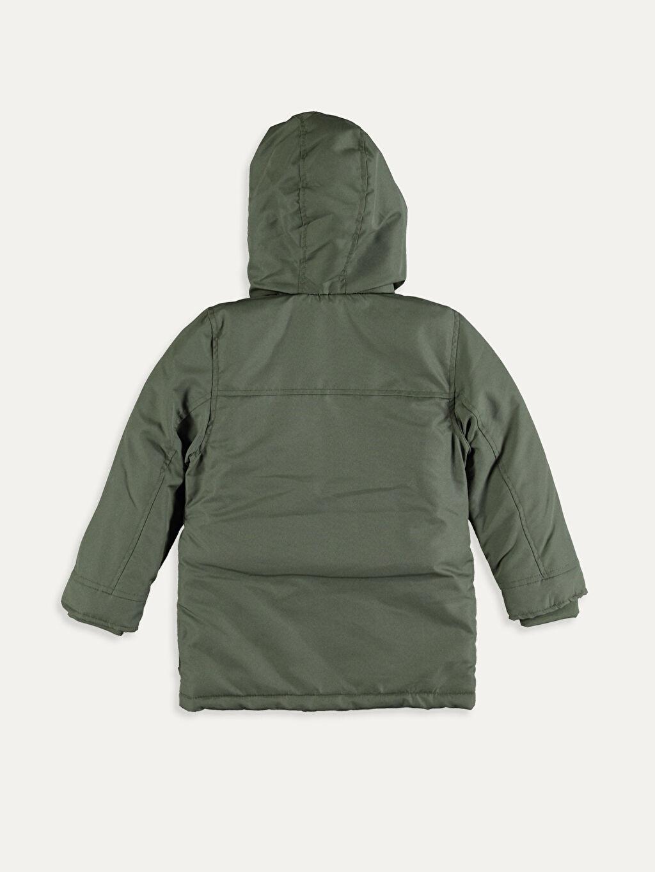 %100 Poliamid %100 Polyester Kalın Kaban Erkek Çocuk Kapüşonlu Kalın Kaban