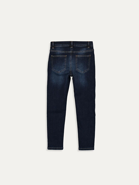 %98 Pamuk %2 Elastan Normal Bel Dar Erkek Çocuk Super Skinny Jean Pantolon