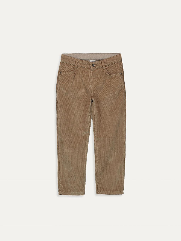 Bej Erkek Çocuk Kadife Pantolon 9W1115Z4 LC Waikiki