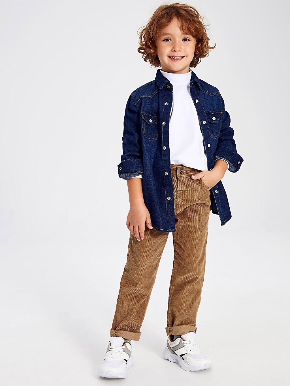 %100 Pamuk Erkek Çocuk Kadife Pantolon