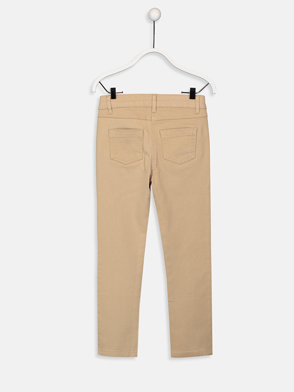 %96 Pamuk %4 Elastan Dar Normal Bel Kız Çocuk Slim Gabardin Pantolon