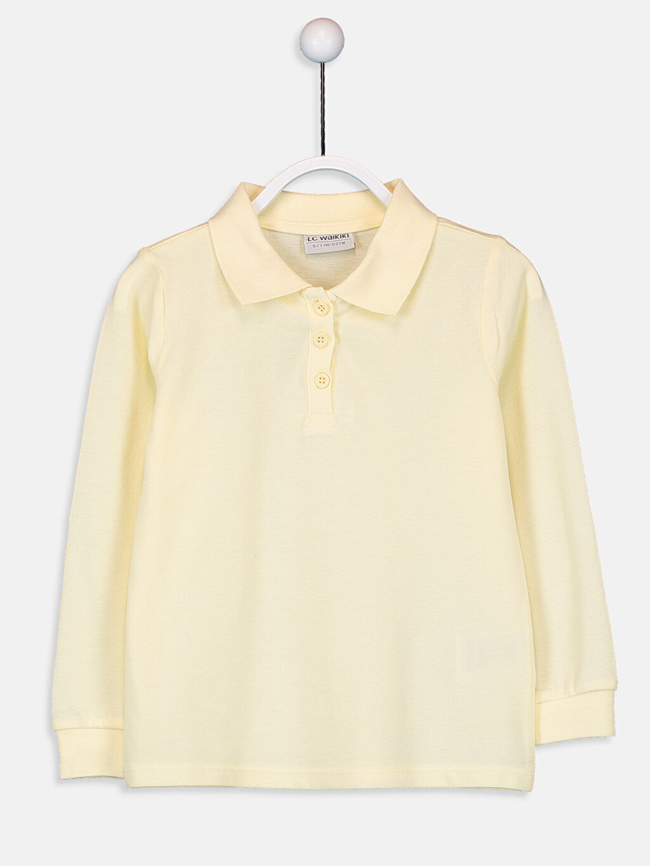Sarı Kız Çocuk Pamuklu Basic Tişört 9W1440Z4 LC Waikiki