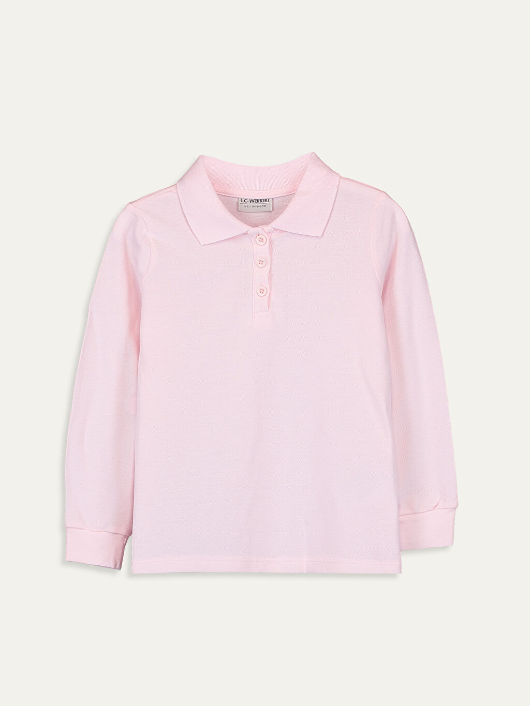 Pembe Kız Çocuk Pamuklu Basic Tişört 9W1440Z4 LC Waikiki