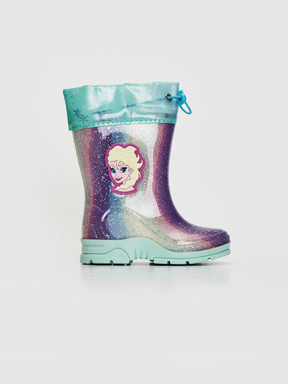 Mavi Kız Çocuk Elsa Frozen Baskılı Yağmur Botu 9W1520Z4 LC Waikiki