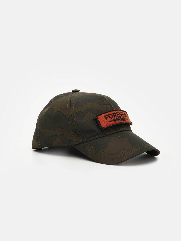 Haki Erkek Çocuk Kamuflaj Desenli Şapka 9W1648Z4 LC Waikiki