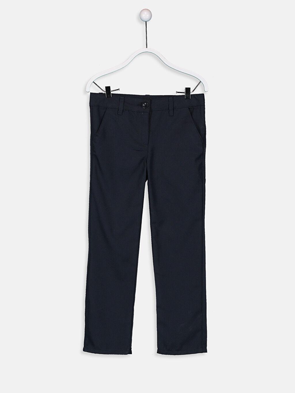 Lacivert Kız Çocuk Slim Pantolon 9W2103Z4 LC Waikiki