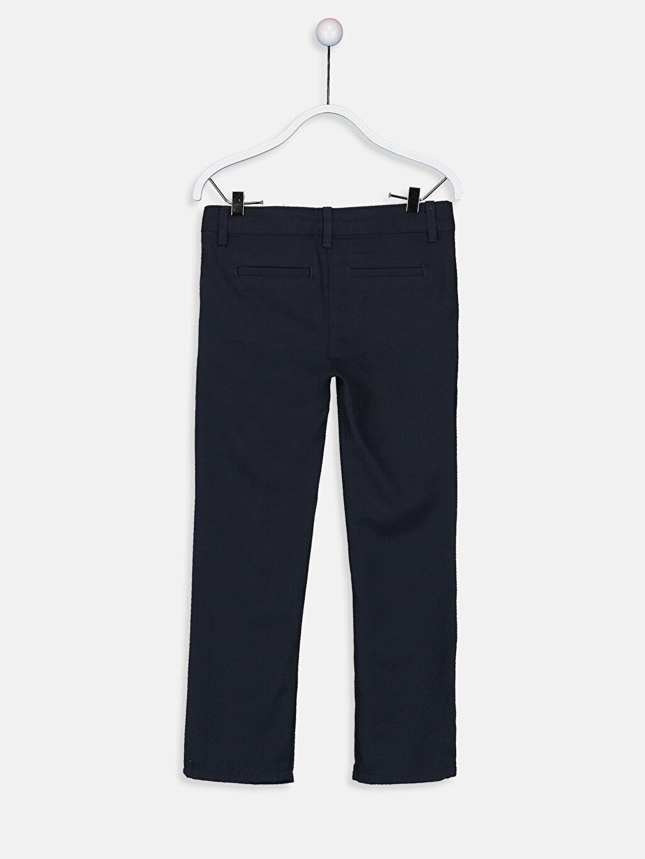 %64 Polyester %36 Viskon Dar Normal Bel Kız Çocuk Slim Pantolon