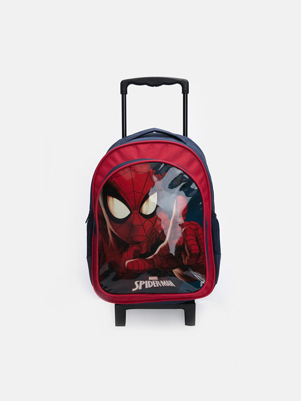 Kırmızı Erkek Çocuk Spiderman Baskılı Çekçekli Çanta 9W2497Z4 LC Waikiki