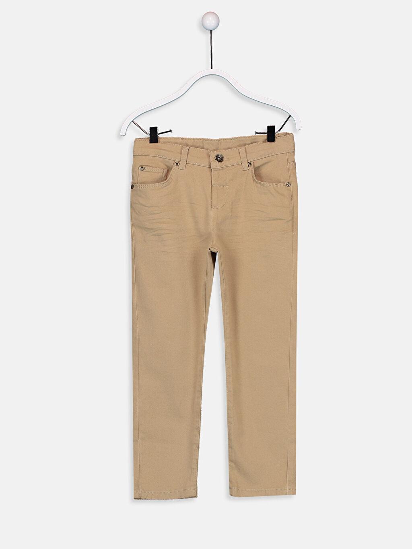 Bej Erkek Çocuk Slim Gabardin Pantolon 9W2618Z4 LC Waikiki