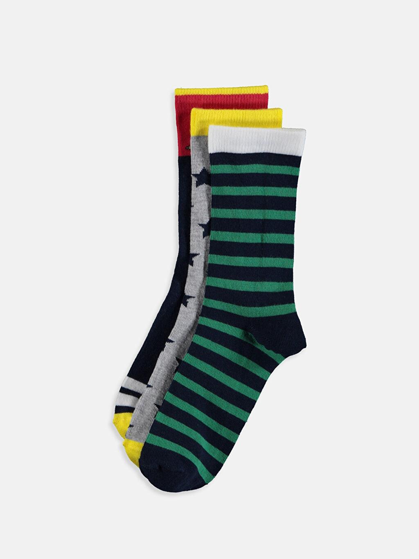 Çok Renkli Erkek Çocuk Soket Çorap 3'lü 9W2683Z4 LC Waikiki