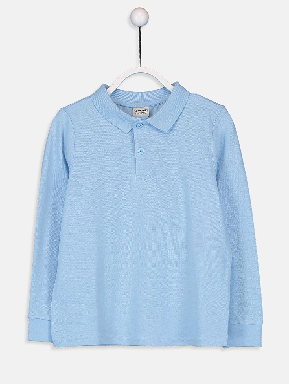 Mavi Erkek Çocuk Uzun Kollu Basic Tişört 9W2687Z4 LC Waikiki