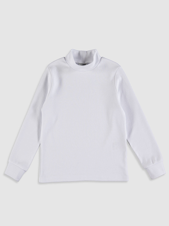Beyaz Erkek Çocuk Uzun Kollu Basic Tişört 9W2699Z4 LC Waikiki
